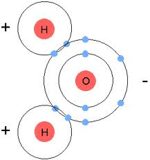 The Water Molecule Showing Negative Side By Oxygen And Positive Hydrogen